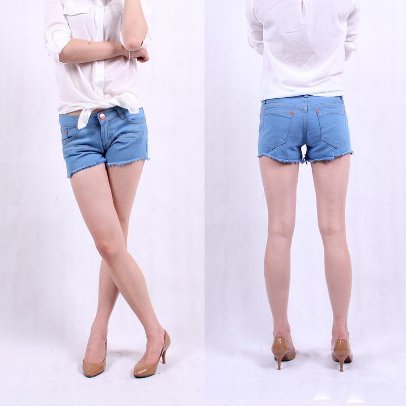 Джинсы женские Женщины шкаф 685 Корейский низкая талия джинсы джинсовая шорты летом тонкий супер похудения джинсовые шорты