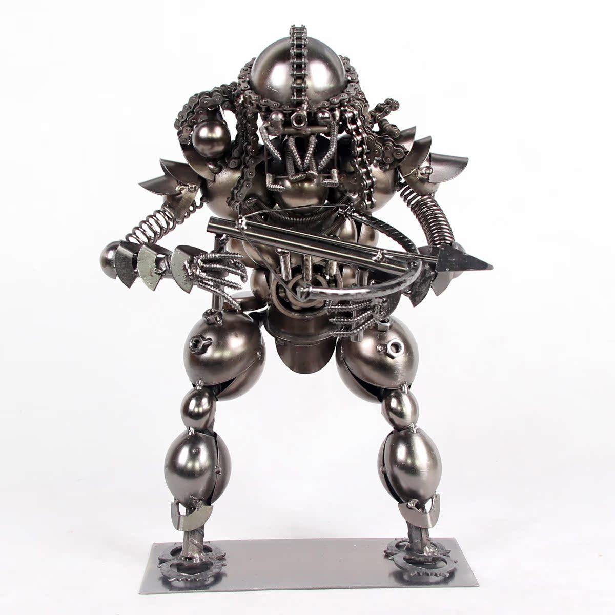家居橱窗装饰铁艺工艺品个性摆设创意男生礼物机器人怪兽模型摆件