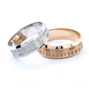 【乐钻珠宝】2010最新时尚款18K金钻石情侣对戒 最时光 11.25