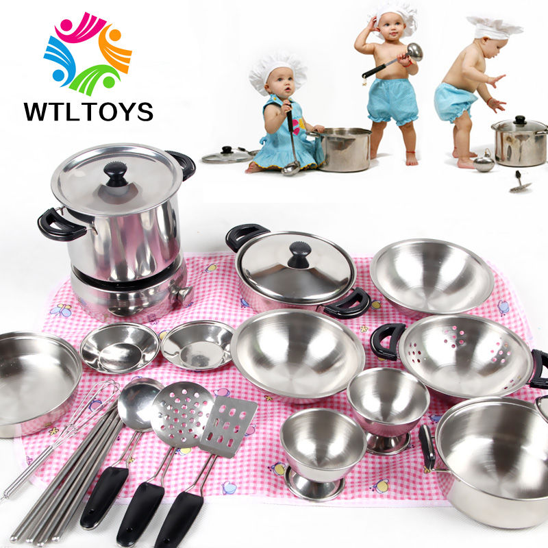 Baby Play House Kitchen Playsets Children Cook Cooking Utensils