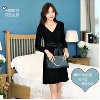 2014重新新款 韩版修身显瘦长袖打底裙 正品连衣裙