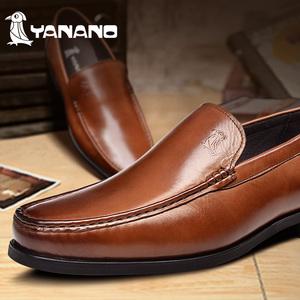 >YANANO啄木鸟 男鞋英伦商务休闲 男士正装皮鞋真皮正品单鞋11484