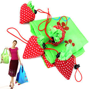 Large shopping bag shopping bags Strawberry Strawberry folding bags handbag bag 35g