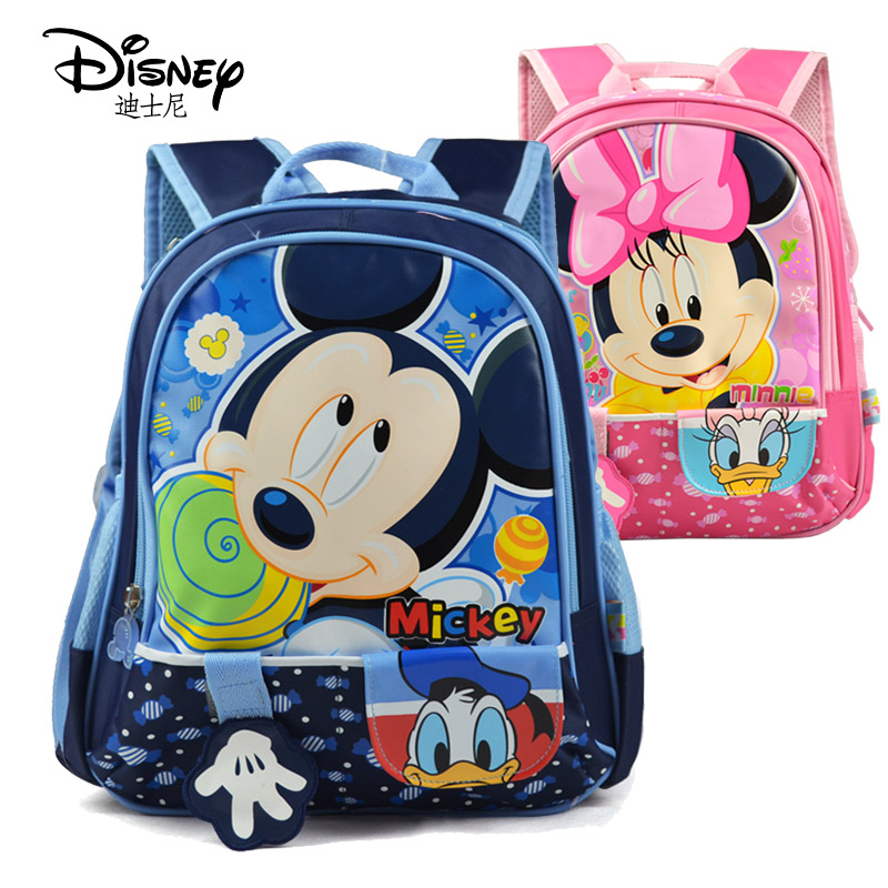  authentic Disney bag backpack, Minnie, kindergarten students cartoon children shoulder bag for men and women