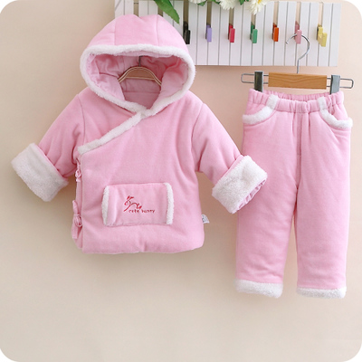 cutebunny special clearance baby suit baby winter thick cotton trousers 0-1-2 year old piece