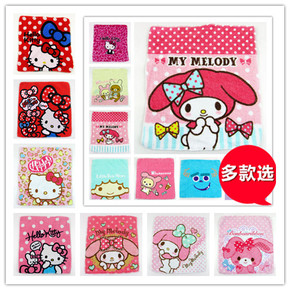 特价 轻松熊 HELLO KITTY 双子座小毛巾方巾毛怪手帕 全棉 多款选