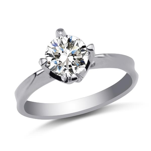 金太福钻石 18K白金戒指 AU750锆石戒指 锆石戒指  正品
