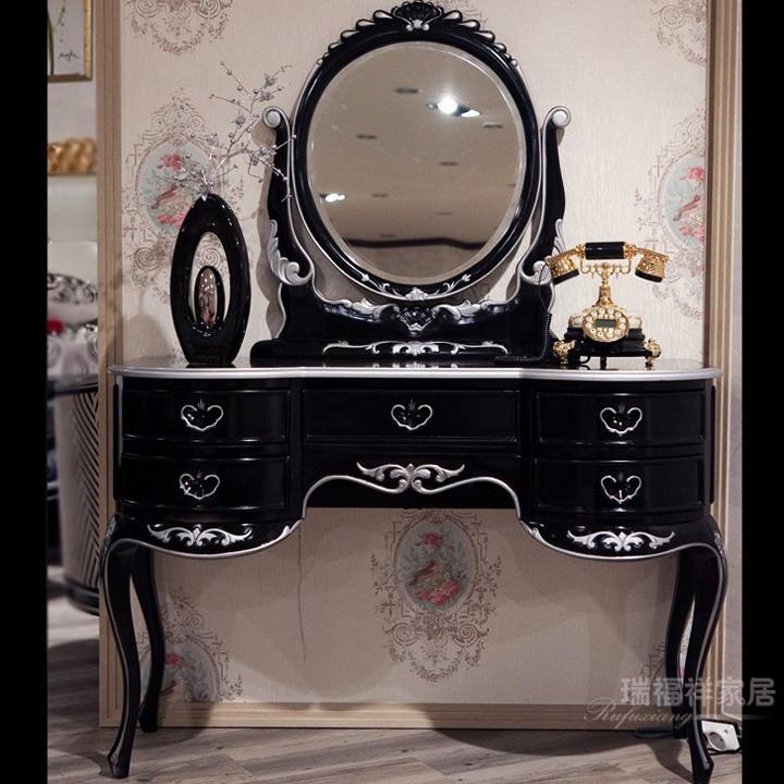 瑞福祥家具 新古典梳妆桌 欧式梳妆台 实木化妆桌 时尚创意梳妆台