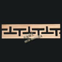 厂家直销 榉木 装饰木线条 雕花线 踢脚线 门套线窗套线宽6*0.5cm