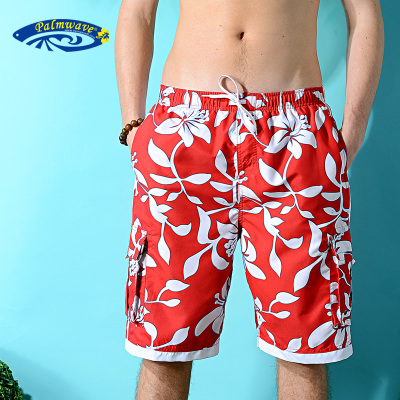 When the waves Palm Beach lovers beach pants male sports pants shorts shorts big yards and quick printing PW001