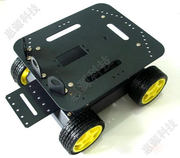 Радиодетали, комплектующие Новый Arduino 4WD четыре колеса привод сплава робот автомобиль комплект частей
