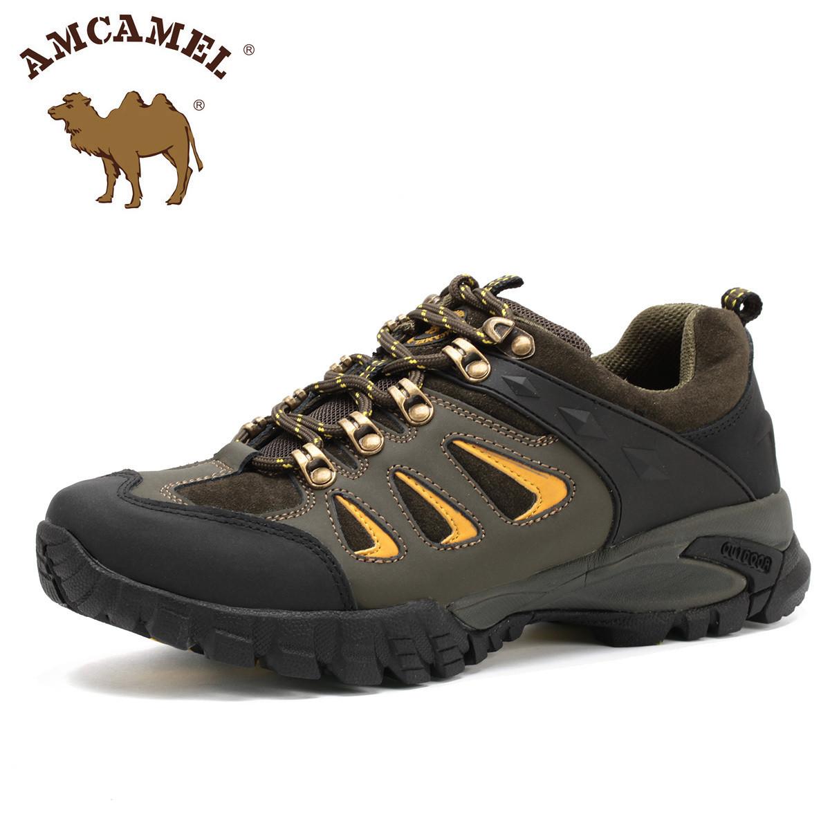 Демисезонные ботинки Camel hm1660106 198 Для отдыха Двухслойная кожа Круглый носок Шнурок