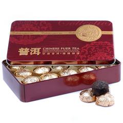 普洱茶 特级尚品小金沱 原味迷你小沱茶 熟茶 铁盒装 茶叶