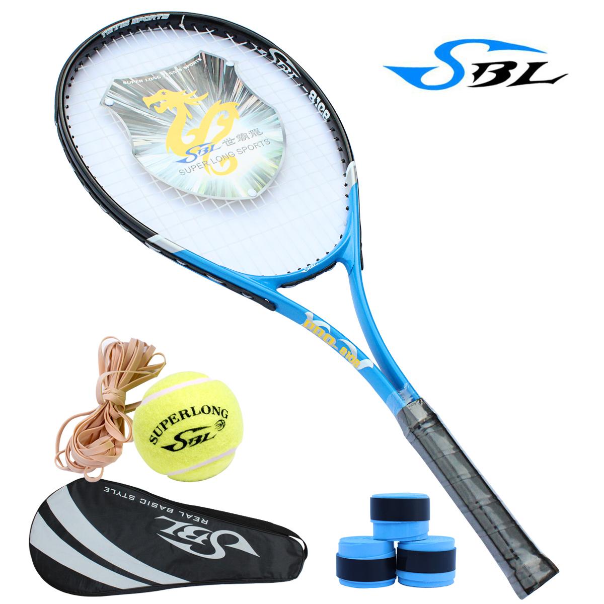 台湾正品带防伪世霸龍8108 初学力荐网球拍 送拍套带线网球吸汗带