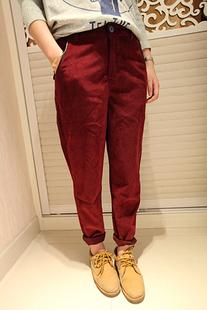 Женские брюки 000902 Длинные брюки Прямые Casual Зима 2012 Зима, Осень Утеплённая модель Карман
