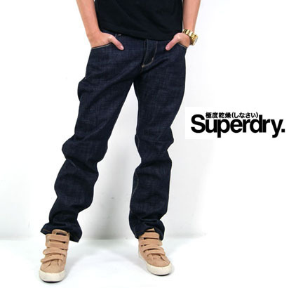 Джинсы мужские Ssaa Superdry 140Z Прямые брюки Классическая джинсовая ткань