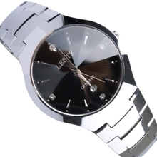 正品LESTE莱斯特钨钢表男士手表条钉钻面商务腕表防水男表LM0208