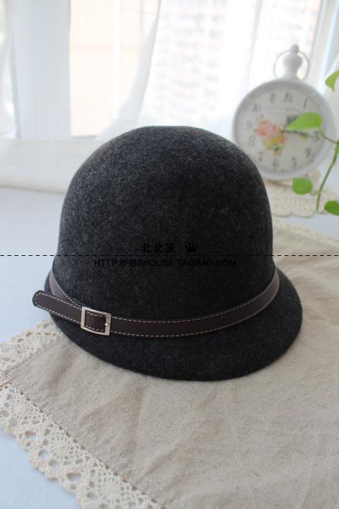 Головной убор Классическая шляпа Фетр Женское Зима