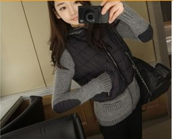 Korean style elegant elves knitted rabbit fur hooded jacket Down