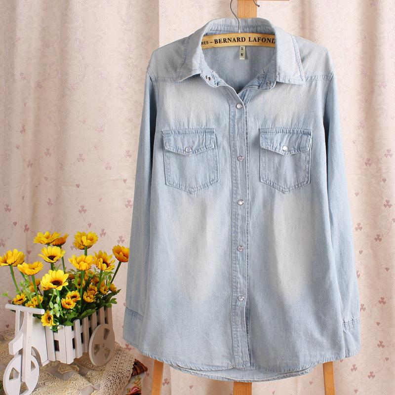 женская рубашка 0013554 2012 Городской стиль Длинный рукав Однотонный цвет Осень 2012 Отложной воротник Один ряд пуговиц