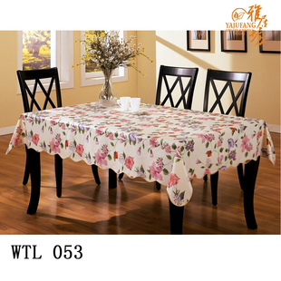 Agile workshop cleaning-free heat-resistant waterproof garden PVC table cloth tablecloth table cloth tablecloth tablecloth WTL053