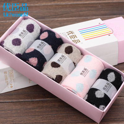Gifted minister product autumn and winter socks female rabbit wool socks female thick warm winter women's pure cotton socks in tube socks