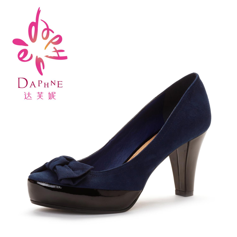 туфли Daphne dae240101030 2012 Широкий каблук Нубук (шершавая кожа) Ткань