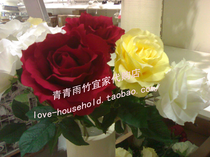 Искусственные цветы Далянь IKEA Покупка SMYCKA искусственный цветок розы оригинальный 19.9 Юань IKEA