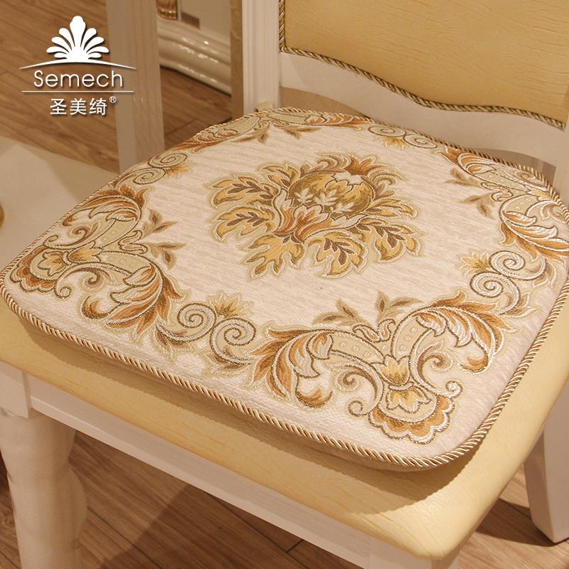 圣美绮 欧式雪尼尔椅垫 椅子垫垫套凳子垫 豪华餐椅座垫布艺坐垫图片