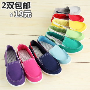 Feet female Korean tidal shoes canvas shoes old Beijing cloth shoes cross lazy shoes leisure shoes women's shoes shoes