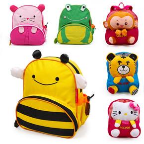 韩版卡通幼儿园儿童书包男女宝宝可爱包包双肩背包小书包毛绒公仔