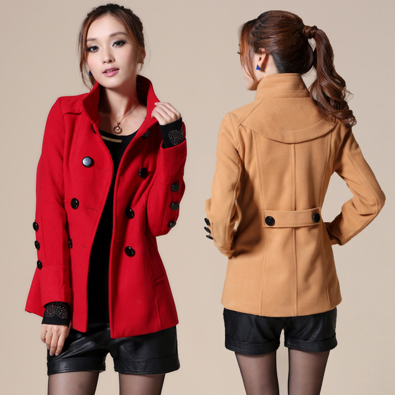 2013 spring new Korean ladies ' slim fit long Barret in plus size long sleeve trench coat women's coat