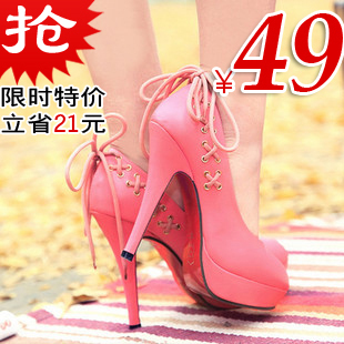 New spring/summer 2012 danxie Korean clearance wedding shoes platform high heel platform shoes sweet light exit codes