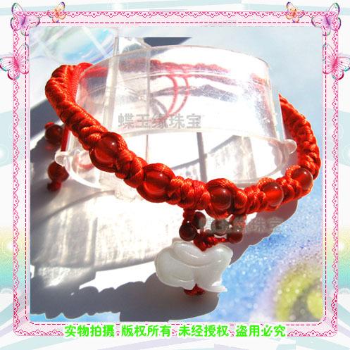金刚结红绳生肖玉兔脚链 本命年礼物 转运兔 可做手链生日礼物