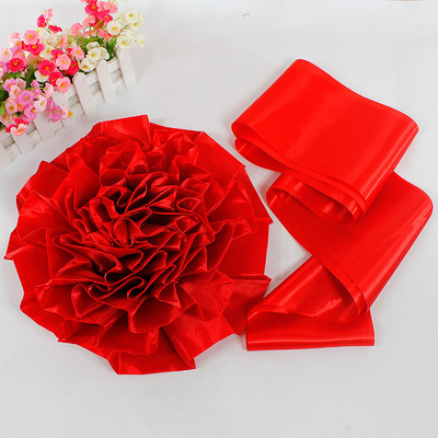 Hi quack front flower wedding supplies wedding wedding car essential big red silk flower opening ceremony decoration