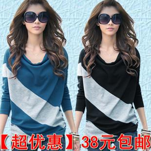 2012新款春装上衣服韩版修身女装长款时尚长袖T恤大码打底衫小衫