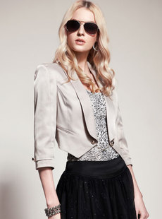 Dream ba Sally 2012 spring new fashion lapel cultivate one's morality small suit small jacket 031412170 ms