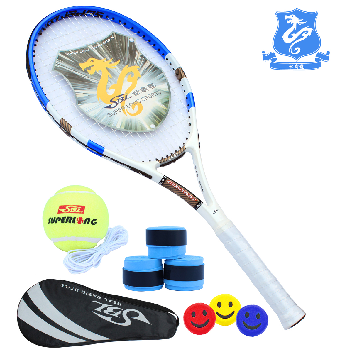 E-mail sent eight Taiwan with a genuine security balong advanced carbon composite tennis racket just start training special