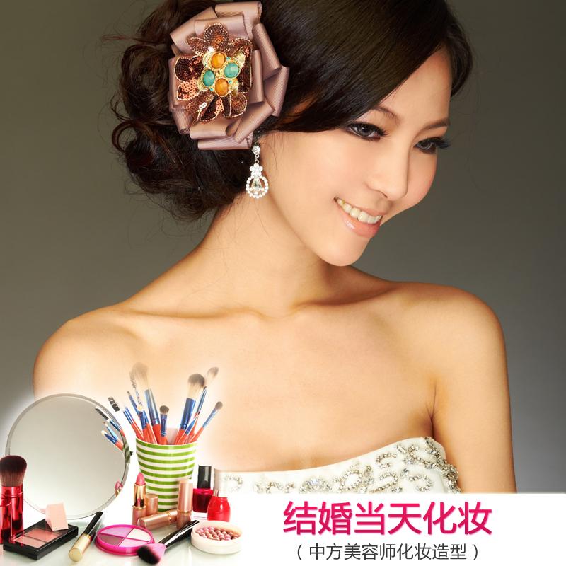 上海巴黎婚纱摄影|结婚当天新娘秘书化妆服务专业婚礼新娘化妆