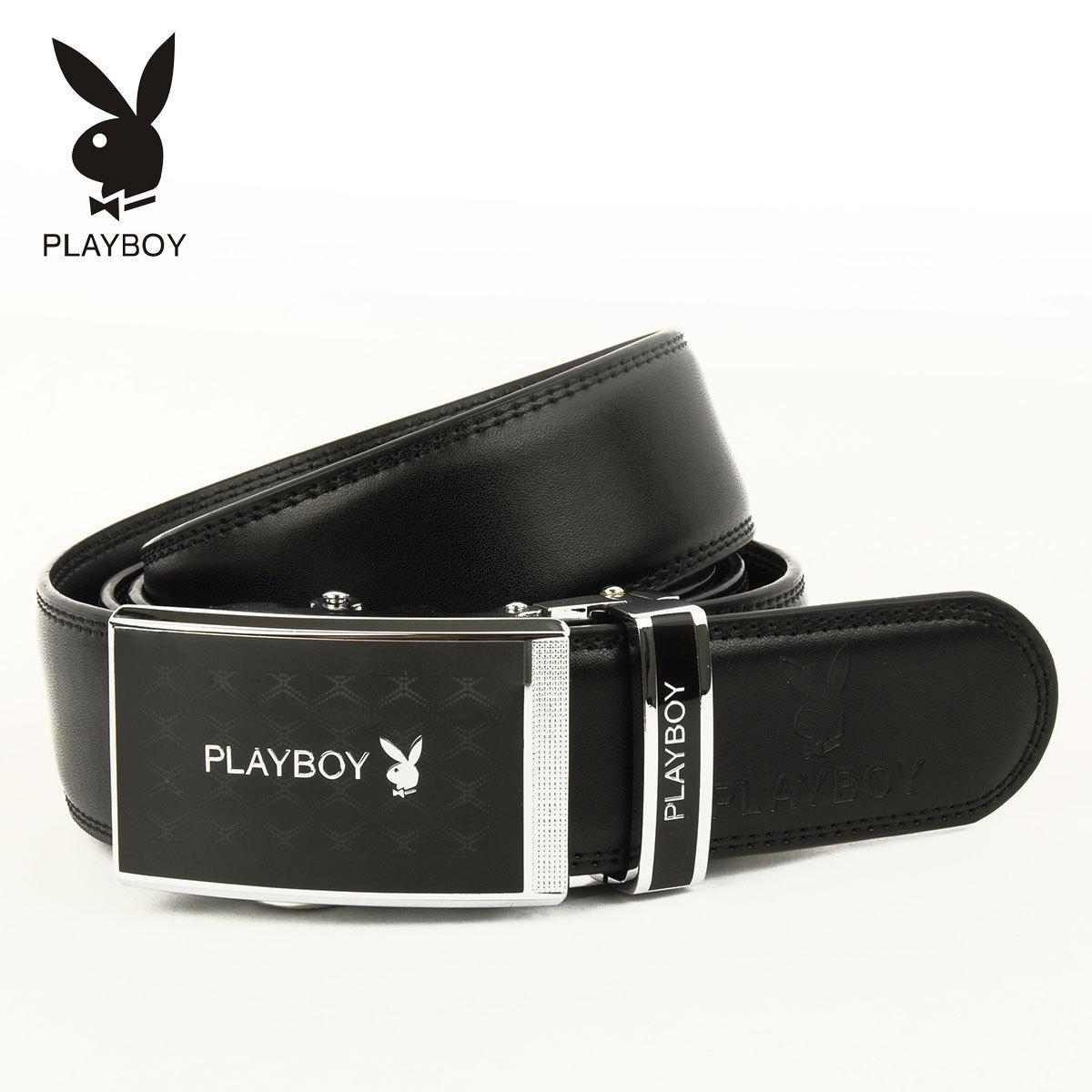 Ремень Playboy pdf0691/12 Мужчины Кожа быка Деловой Автоматические пряжки Блестящий