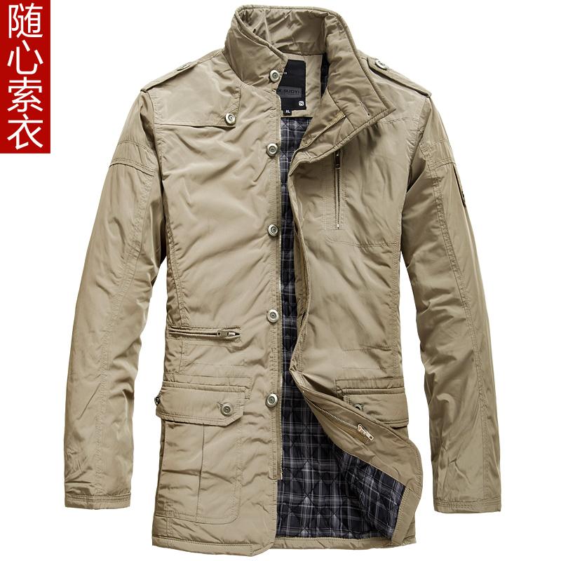 随心索衣 2012男装秋冬款立领加厚棉服外套 英伦风修身男棉衣外套
