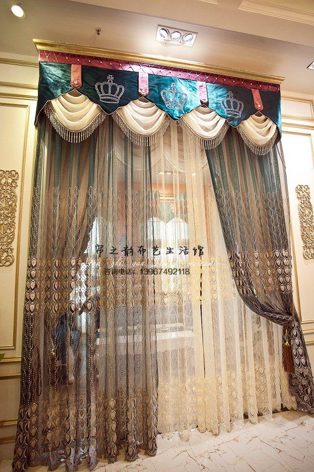 现代简约欧式风格土耳其进口立体绣花沙 可搭配遮光窗帘布绒布图片