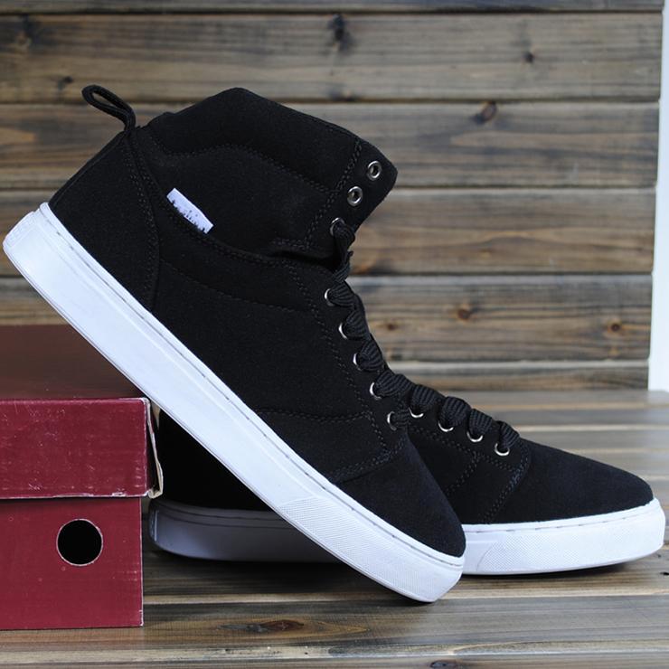 Ботинки мужские The Yulu Y8 Для отдыха Квадратный носок Искусственная кожа Замша Зима