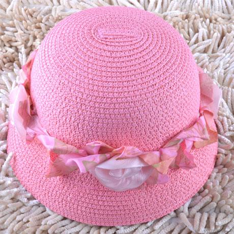 Головной убор Эксклюзивные Корейский темперамент Цветочница Hat девочка ребенка цветок солнца шляпы пляж Хат дамы Cap