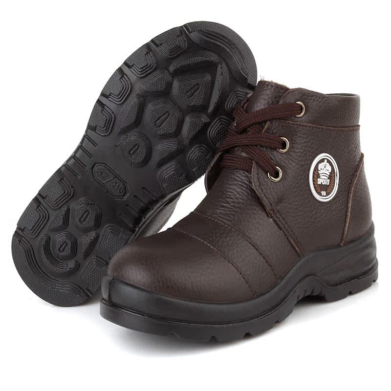 Ботинки мужские 307 2012 Для отдыха Круглый носок Кожа Мягкая кожа Зима