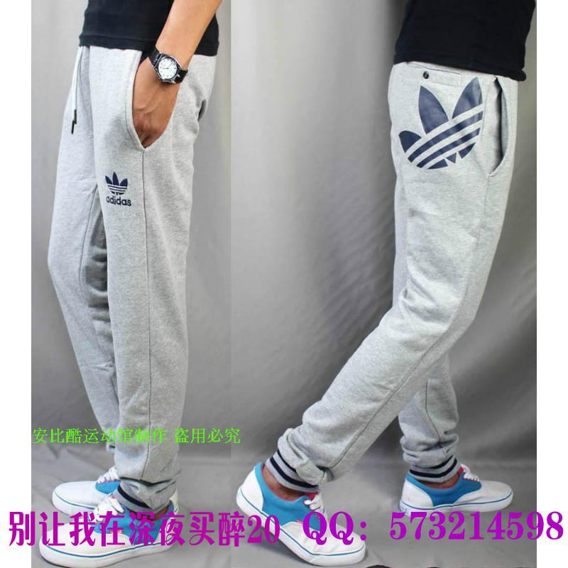Брюки спортивные Adidas 9012b Мужская 100 хлопок Эластичный Летом 2012 года С логотипом бренда % Спорт и отдых