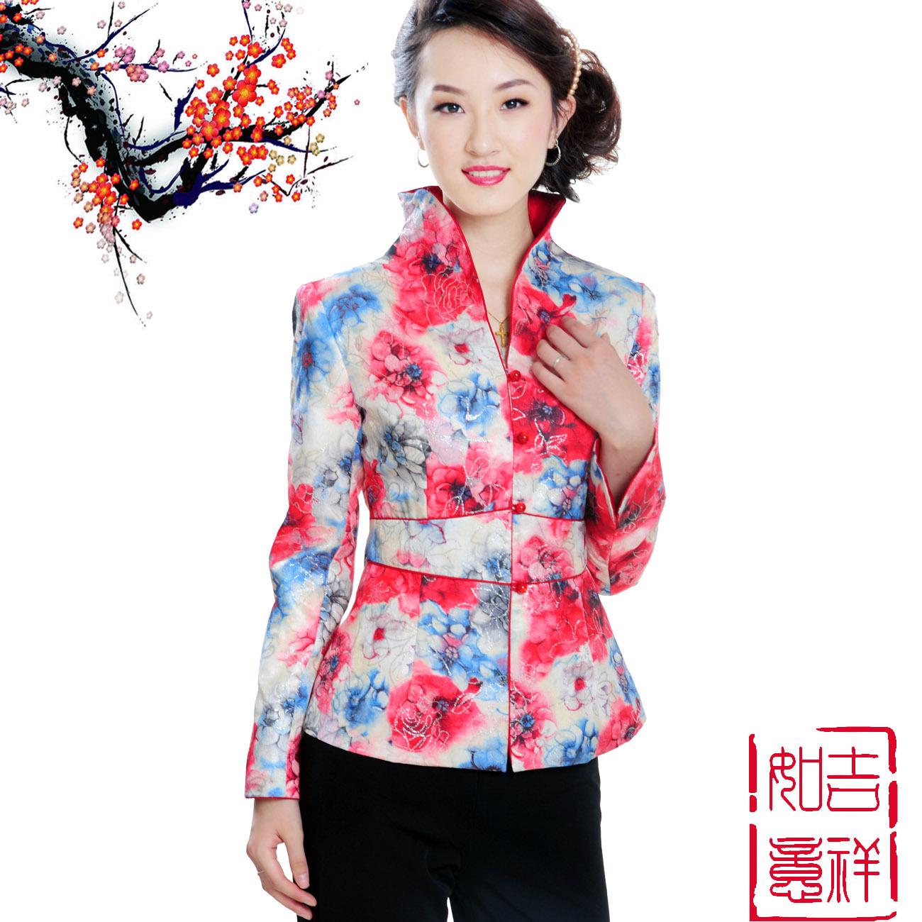 Блузка в китайском национальном стиле Г-жа Тан костюм Весна Весна Весна куртки/пальто нового 2012 Ms танских китайцев, красный
