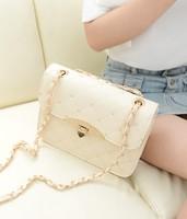2014夏季新款韩版潮女包糖果定型单肩斜跨小包包复古链条斜挎包邮