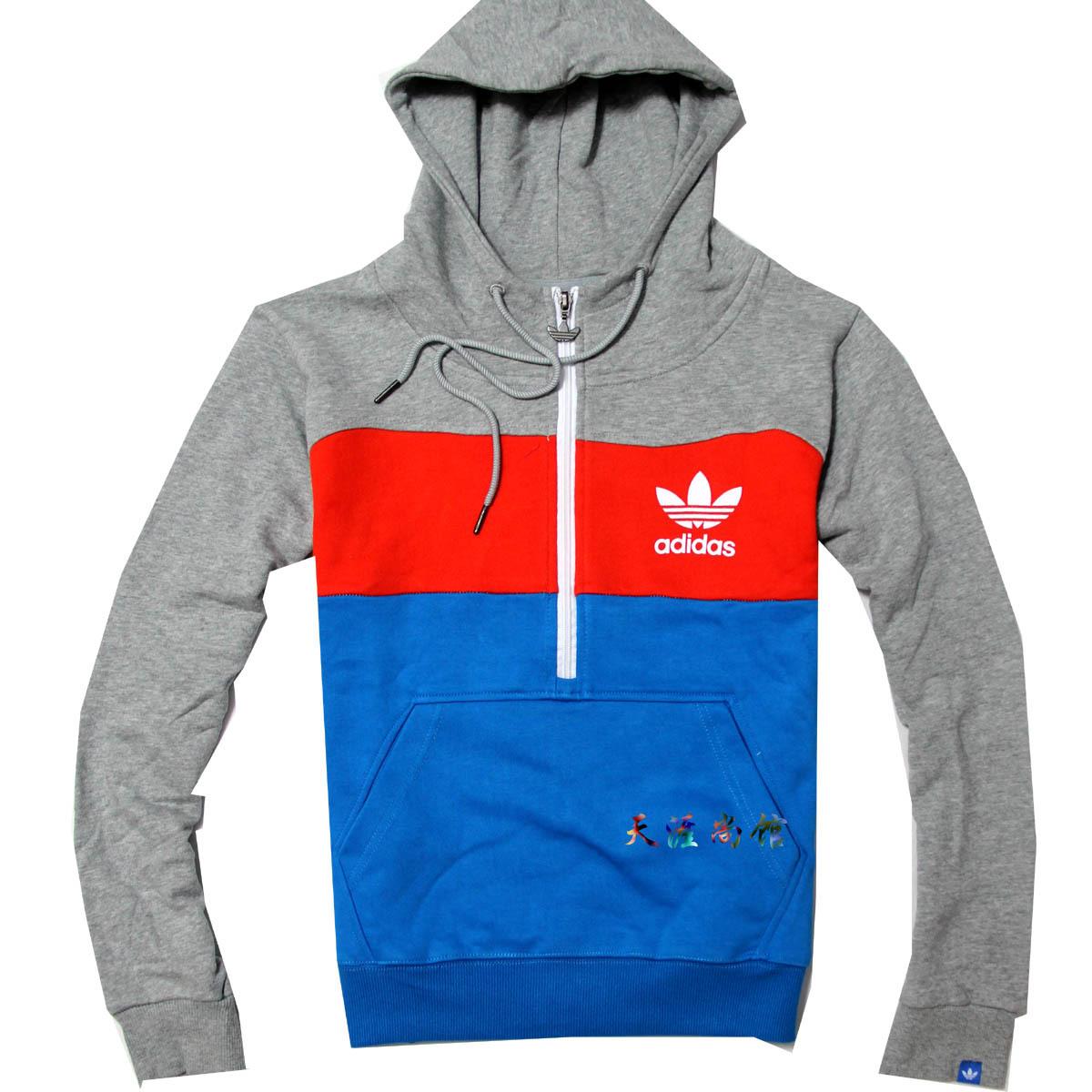 Спортивная толстовка Adidas 1234 Нейтральный - удалит не Пуловер 100 хлопок Молния Для спорта и отдыха Быстросохнущие, Удерживающая тепло, Воздухопроницаемые % Осень 2012
