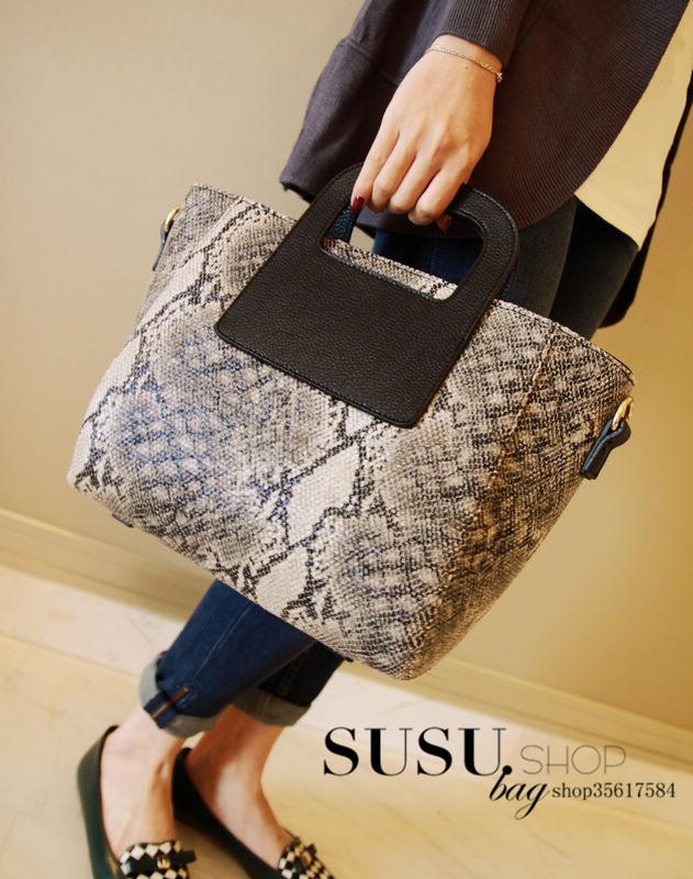 Сумка Гонконг Купить Корейский 2014 новый очаровательный змея кожи шаблон женщин baodan сумка Messenger сумка tote сумки